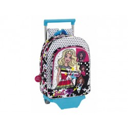 CARTERA ESCOLAR SAFTA CON CARRO BARBIE YOU CAN BE 270X340X100 MM
