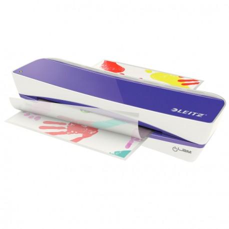 Plastificadora Leitz DIN A4 con 2 Rodillos hasta 100MC color Violeta