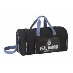 CARTERA ESCOLAR SAFTA REAL MADRID BLACK BOLSA DEPORTE 550X260X270 MM