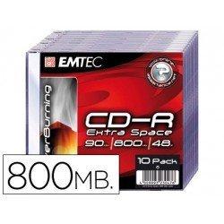 CR-R Emtec 800mb 90min velocidad maxima 48X Caja Slim 10 unidades