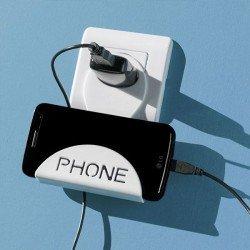 """Soporte de carga para moviles """"Phone"""" color blanco/negro NO SE PUEDE ELEGIR COLOR"""