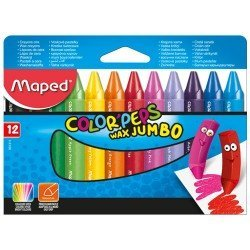 Lapices cera Maped Color Peps Jumbo Caja de 12 unidades