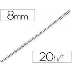 Espiral metalico fellowes 56 negro 8 mm pack de 25 espirales