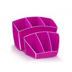 Organizador sobremesa CEP 143x158x93 mm 8 Compartimentos Plástico color Rosa