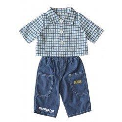 Juego Ropa para muñeco de hasta 32 cm Vaquero y camisa marca Miniland