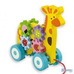 Juego para bebes a partir de 1 años Arrastre jirafa marca Ambitoys