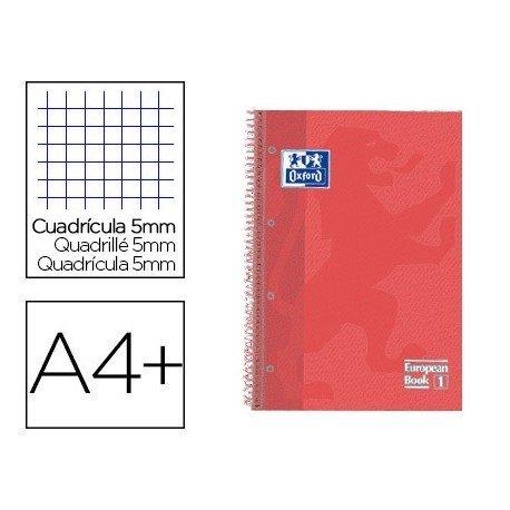 Cuaderno Oxford Ebook 1 DIN A4 Coral Tapa Extradura Cuadricula 5 mm