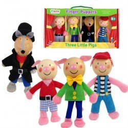 Marioneta de dedo Personajes Tres Cerditos partir de 3 años Fiesta Crafts