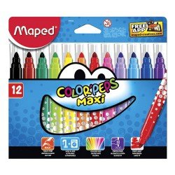 Rotuladores Maped Color Peps Maxi Caja de 12 rotuladores