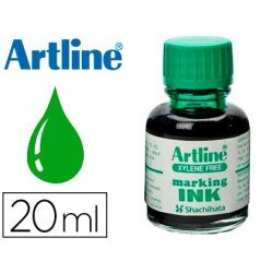 Tinta Artline Verde Para rotulador pizarra blanca 500-A Frasco 20 ML