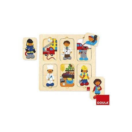 Puzzle Profesiones a partir de 2 años 12 piezas Goula