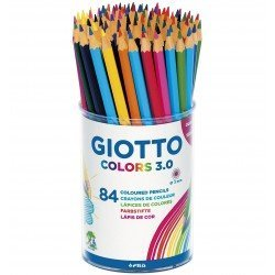 Lapices de colores marca Giotto colors 3.0 bote de plastico de 84 lapices