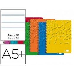 Bloc Cuarto espiral Tapa cartoncillo impreso Write Liderpapel pauta 2.5 mm