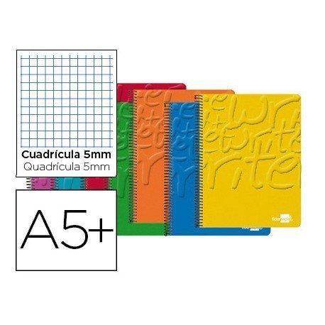 Bloc espiral marca Liderpapel cuarto cuadrícula 5mm