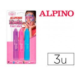 BARRA MAQUILLAJE ALPINO FACE STICK NIÑA 3 COLORES SURTIDOS