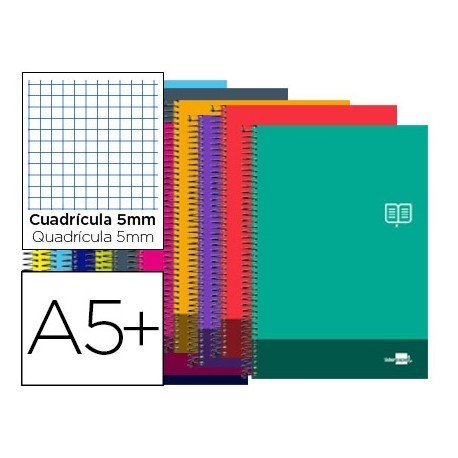 Bloc Cuarto marca Liderpapel serie Discover cuadricula 5 mm
