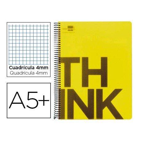Bloc Cuarto marca Liderpapel serie Think cuadricula 4 mm amarillo