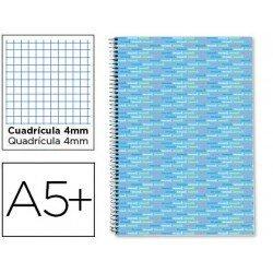 Bloc marca Liderpapel cuarto serie Multilider cuadricula celeste