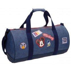 Bolsa de viaje 27x50x27 cm en Microfibra y PVC Mickey Parches