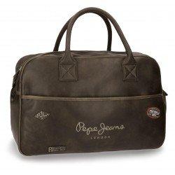 Bolsa de viaje 32x50x19 cm en Piel Sintética Pepe Jeans Duetone Marrón