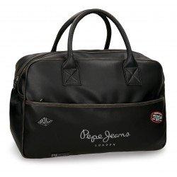 Bolsa de viaje 32x50x19 cm en Piel Sintética Pepe Jeans Duetone Negra