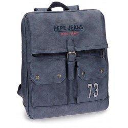 Mochila Pepe Jeans Piel Sintética 32x41x14,5 cm Jack Azul para portátil