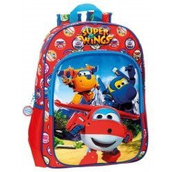 Mochila Super Wings Microfibra 29x38x12 cm Mountain Roja