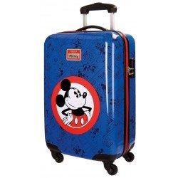Maleta de cabina 55x37x20 cm Rígida 4 ruedas Hello Mickey Azul