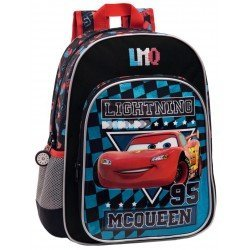 Mochila Cars Microfibra 29x38x14 cm McQueen Negra