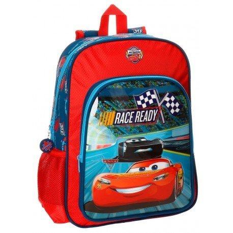 Mochila Cars Microfibra 30x40x13 cm Race Roja