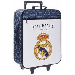 Maleta de cabina 52x35x20 cm Blanda 2 ruedas Real Madrid Basic Blanca