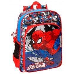 Mochila Spiderman Microfibra 29x38x12 cm Comic Roja