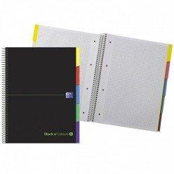 Cuaderno Oxford Ebook 5 DIN A4+ Negro y Verde Tapa Extradura Cuadricula 5 mm