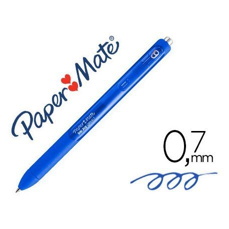 BOLIGRAFO PAPER MATE INKJOY RETRACTIL GEL PEN TRAZO 0,7 MM AZUL