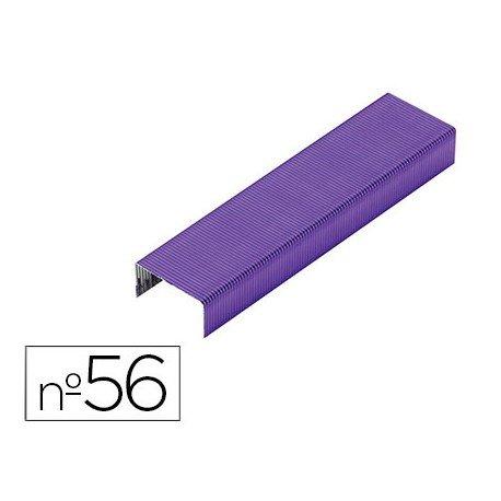 Grapas Rexel N.56 26/6 color morado 2000 unidades
