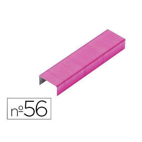 Grapas Rexel N.56 26/6 color rosa 2000 unidades