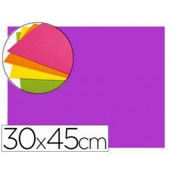 Goma Eva Autoadhesiva color Malva 30x45 cm Bolsa 6 uds