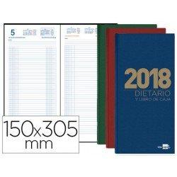 Libro de caja Liderpapel 15x30,5 cm 2018 Dos tercios Dietario en Colores Surtidos