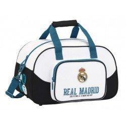 Bolsa Deporte Real Madrid 1ª Equipación 17/18 40x24x23 blanco