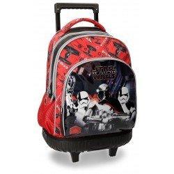 Mochila Star Wars VIII 43x32x21 cm de Microfibra con ruedas