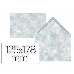 Sobre B6 Liderpapel 125x178mm 80g/m2 Color Azul Pergamino Pack de 15 unidades