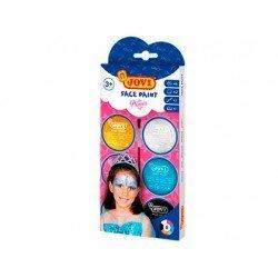 Crema maquillaje para la cara Jovi Princesa Colores surtidos Pack de 6 botes + accesorios