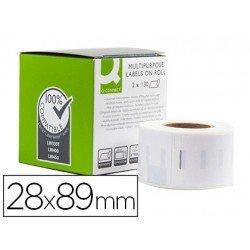Etiqueta Adhesiva Q-Connect KF18536 Compatible Dymo 20x89 mm Caja de 260 uds