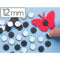 Imanes Adhesivos Redondos negro 12 mm itKrea
