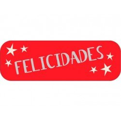 Etiqueta Felicidades color Rojo Arguval