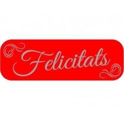 Etiqueta Felicitats color Rojo Arguval