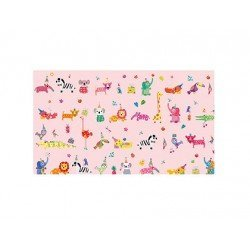 PAPEL REGALO ARGUVAL TURNOWSKY ANIMALES ROSA