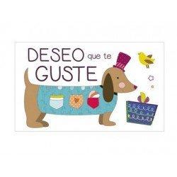 Etiqueta Deseo que te guste perro salchicha marca Arguval