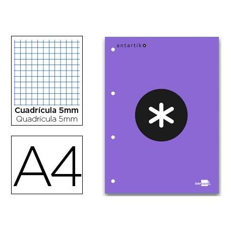 Bloc recambio encolado Antartik DIN A4 violeta