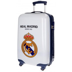 Maleta de cabina 55x34x20 cm Rígida 4 ruedas Real Madrid 1902 Blanca